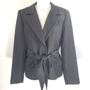 Ingredients Charcoal Tie Front Blazer Size 14